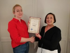 Canalys' runner up award was collected by Rachel Lashford
