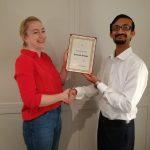 Vice President Anurag Srivastava collects Everest Group's 2018 Analyst Firm Award