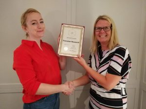 Lena Davies collects Forrester's 2018 AFA
