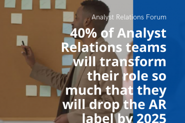 40% of #analystrelations teams will transform their role so much that they will drop the AR label