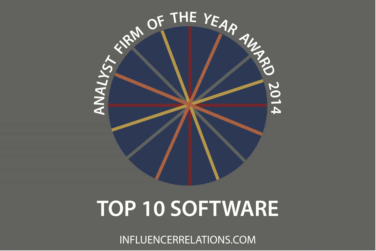 Analyst Firm of the Year Award 2014 - Top 10 Software
